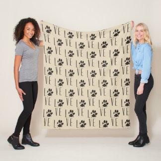 Cobertor De Velo Teste padrão da tipografia do amor do impressão da