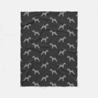 Cobertor De Velo Teste padrão das silhuetas de Lakeland Terrier