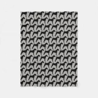 Cobertor De Velo Teste padrão das silhuetas de Terrier irlandês
