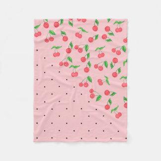 Cobertor De Velo teste padrão de bolinhas bonito do preto da cereja