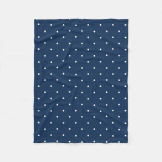 Cobertor De Velo teste padrão de bolinhas branco dos azuis marinhos