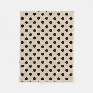 Cobertor De Velo Teste padrão de bolinhas preto - Tan