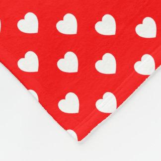 Cobertor De Velo Teste padrão de bolinhas vermelho e branco do