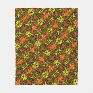 Cobertor De Velo Teste padrão de borboleta amarelo verde alaranjado