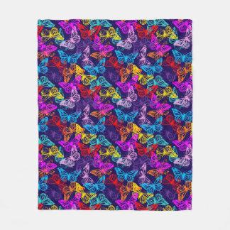 Cobertor De Velo Teste padrão de borboletas colorido