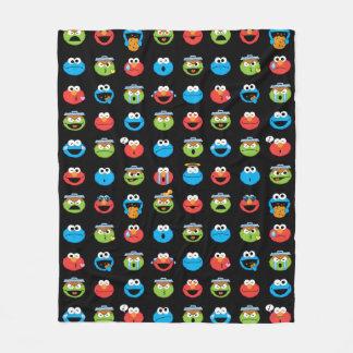 Cobertor De Velo Teste padrão de Emoji dos amigos do Sesame Street
