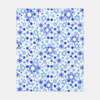 Cobertor De Velo Teste padrão de estrelas de David azul dinâmico