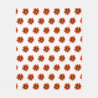 Cobertor De Velo Teste padrão de flor alaranjado