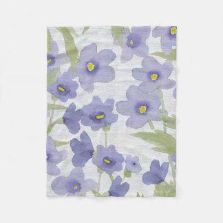 Cobertor De Velo teste padrão de flores do miosótis