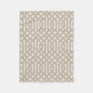 Cobertor De Velo Teste padrão de linho bege da treliça da casa da