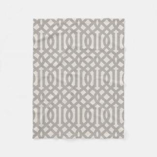 Cobertor De Velo Teste padrão de linho cinzento da treliça da casa