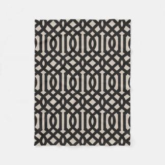 Cobertor De Velo Teste padrão de linho preto da treliça da casa da