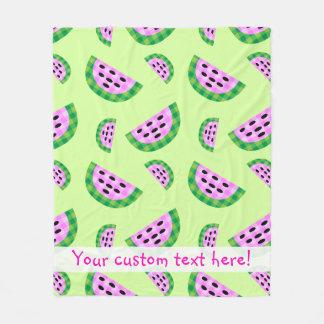 Cobertor De Velo Teste padrão de néon saboroso da fatia da melancia