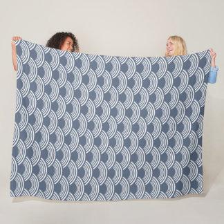 Cobertor De Velo Teste padrão de onda geométrico azul escuro