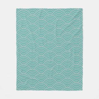 Cobertor De Velo Teste padrão de onda Seaglass e Taupe