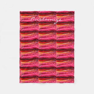 Cobertor De Velo teste padrão de onda vermelho/cor-de-rosa