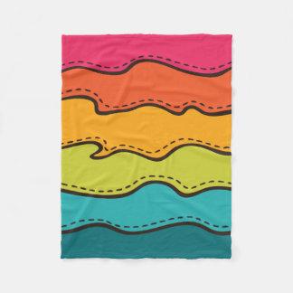 Cobertor De Velo Teste padrão de ondas abstrato