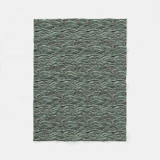 Cobertor De Velo Teste padrão de ondas abstrato verde. Textura do