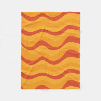 Cobertor De Velo Teste padrão de ondas em cores amarelos alaranjado