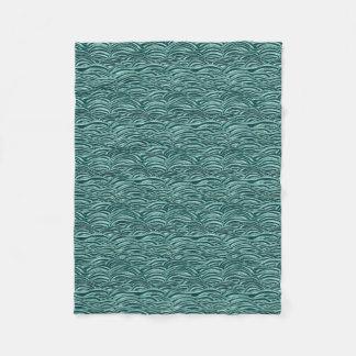 Cobertor De Velo Teste padrão de ondas verde e azul. Textura do mar