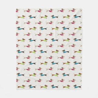 Cobertor De Velo Teste padrão delicioso do Dachshund