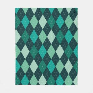 Cobertor De Velo Teste padrão do argyle da cerceta