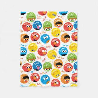 Cobertor De Velo Teste padrão do caráter do círculo do Sesame