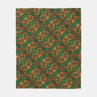 Cobertor De Velo Teste padrão do geco dos lagartos alaranjados e
