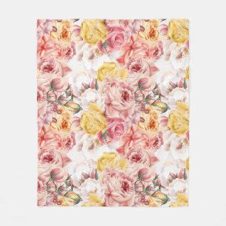 Cobertor De Velo Teste padrão do grunge do buquê floral do