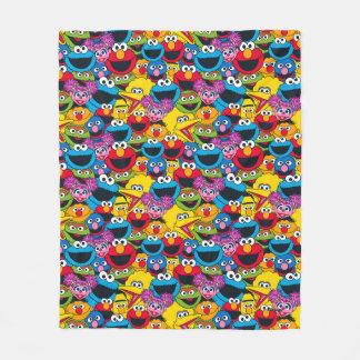 Cobertor De Velo Teste padrão do grupo do Sesame Street