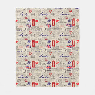 Cobertor De Velo Teste padrão do jornal de Londres