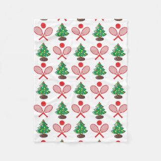 Cobertor De Velo Teste padrão do tênis do Natal