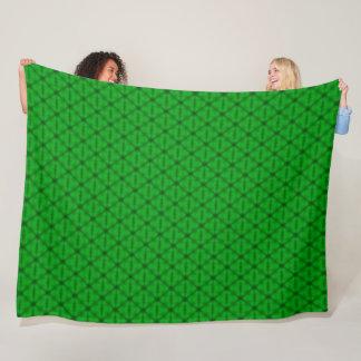 Cobertor De Velo Teste padrão do triângulo do verde limão