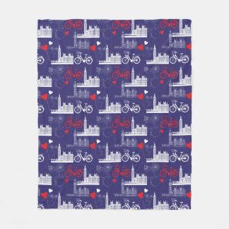 Cobertor De Velo Teste padrão dos marcos de Londres
