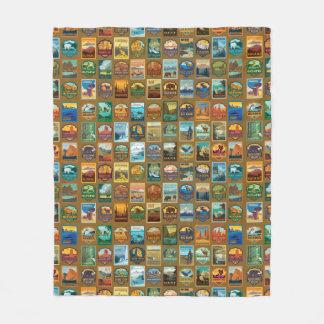 Cobertor De Velo Teste padrão dos parques nacionais