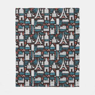 Cobertor De Velo Teste padrão dos símbolos de France  
