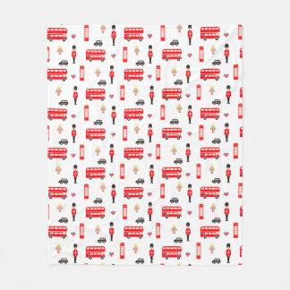 Cobertor De Velo Teste padrão dos símbolos de Inglaterra