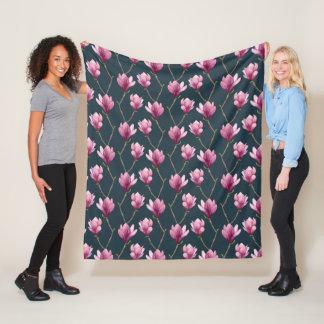 Cobertor De Velo Teste padrão floral da aguarela da magnólia
