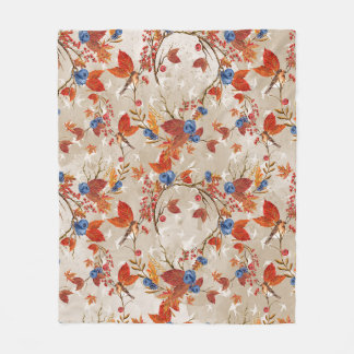 Cobertor De Velo Teste padrão floral da flor rústica do outono da