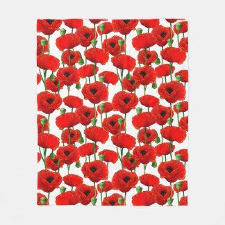 Cobertor De Velo Teste padrão floral das papoilas vermelhas
