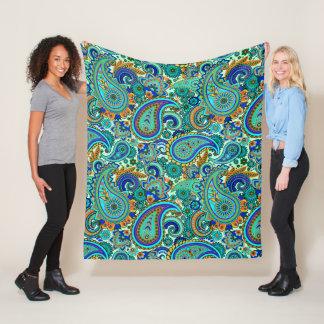 Cobertor De Velo Teste padrão floral retro colorido de Paisley