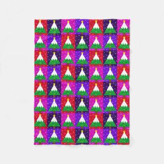 Cobertor De Velo Teste padrão Funky da árvore de Natal