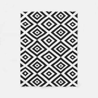 Cobertor De Velo Teste padrão geométrico abstrato - preto e branco.