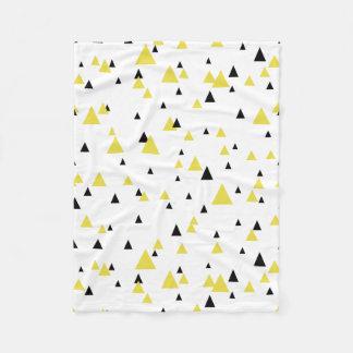 Cobertor De Velo Teste padrão geométrico amarelo & preto