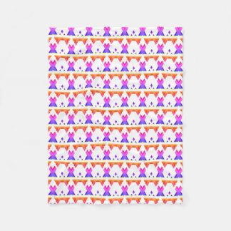 Cobertor De Velo Teste padrão geométrico colorido brilhante do