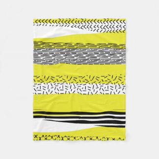 Cobertor De Velo Teste padrão geométrico da mistura amarela & preta