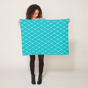 Cobertor De Velo Teste padrão geométrico do diamante de turquesa