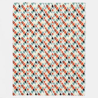 Cobertor De Velo teste padrão geométrico dos diamantes coloridos