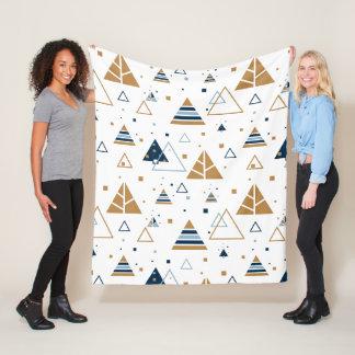 Cobertor De Velo Teste padrão geométrico moderno dos triângulos