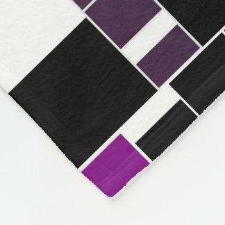 Cobertor De Velo Teste padrão geométrico roxo e branco